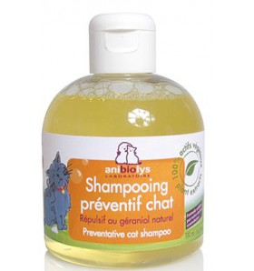Shampooing Preventif Chat - répulsif au géraniol naturel - 300 ml