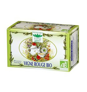Tisane vigne rouge bio - Circulation - 20 sachets