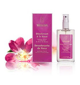Déodorant bio à la rose de damas - spray 100 ml