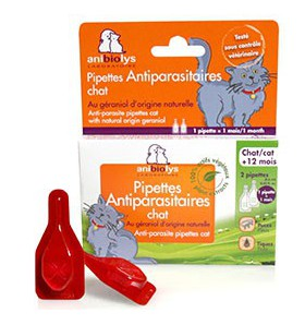 Pipettes Antiparasitaires CHAT - 2 pipettes