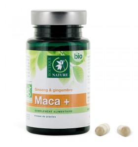 Maca+ bio - Ginseng & gingembre - 60 gélules