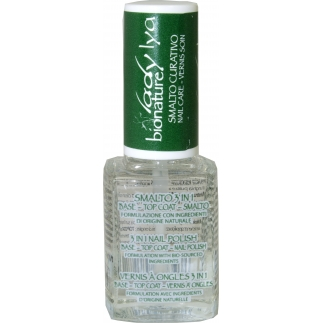 Vernis de soin naturel - 3 en 1 base, top coat, vernis - 12 ml