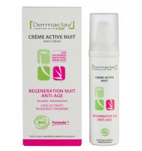 Crème active nuit bio - Régénération anti-âge - 50 ml