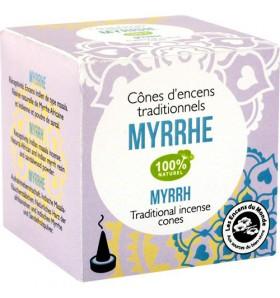 Cônes d'encens indien Myrrhe - 12 cônes