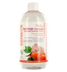 Recharge Cosmousse mousse lavante 2 en 1 à l'abricot bio - 300 ml