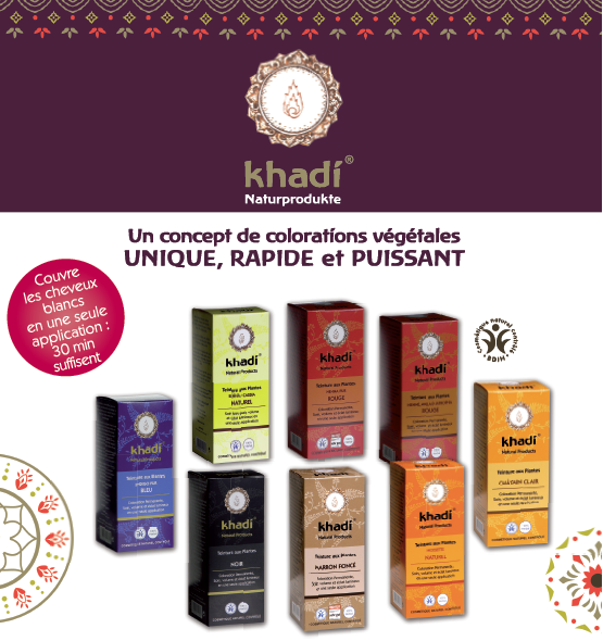 coloration naturelle aux plantes 100 g - Coloration Khadi Rouge