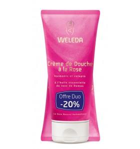 DUO Crème de douche bio à la rose - 200 ml