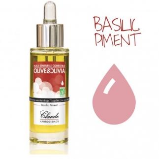 Huile sensuelle bio Comestible - Basilic Piment - 30 ml