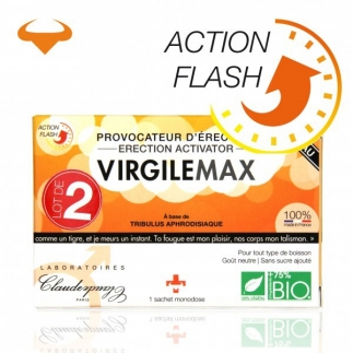 Provocateur d'érection action flash Virgile Max X2 - 2 Sachets monodose
