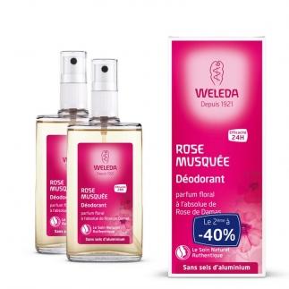 Offre Duo Déodorant bio à la rose de damas - 2x100 ml