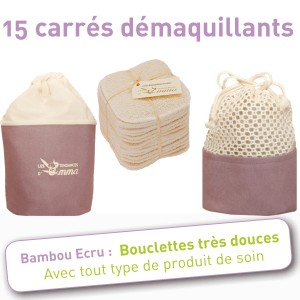 EMMA - Kit Eco belle trousse coton BIO