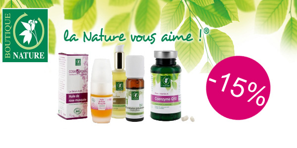 -15% Exceptionnel sur BOUTIQUE NATURE