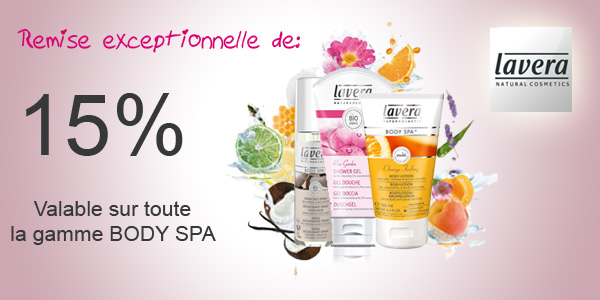 -15% sur la gamme body spa