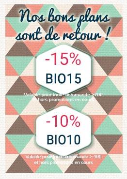 -15% avec BIO15 sur toutes vos commandes > 79€