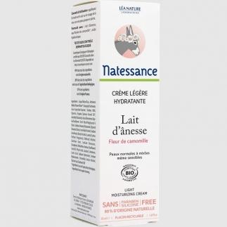 Crème légère hydratante bio au lait d'ânesse - 50 ml