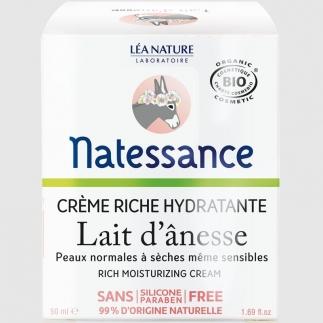 Crème riche hydratante bio au lait d'ânesse - 50 ml