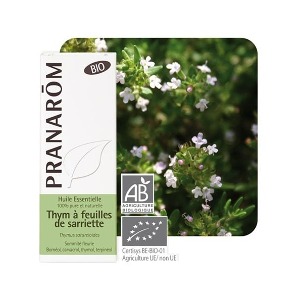 Huile essentielle Thym à feuilles de sarriette Bio - 10 ml