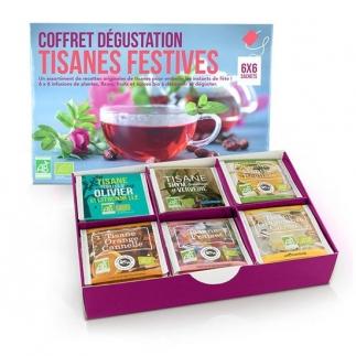 Coffret dégustation tisanes festives - 6x6 sachets