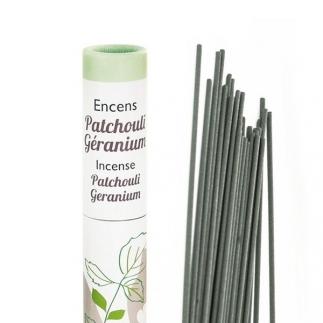 Encens végétal Patchouli, Géranium - Aromandise