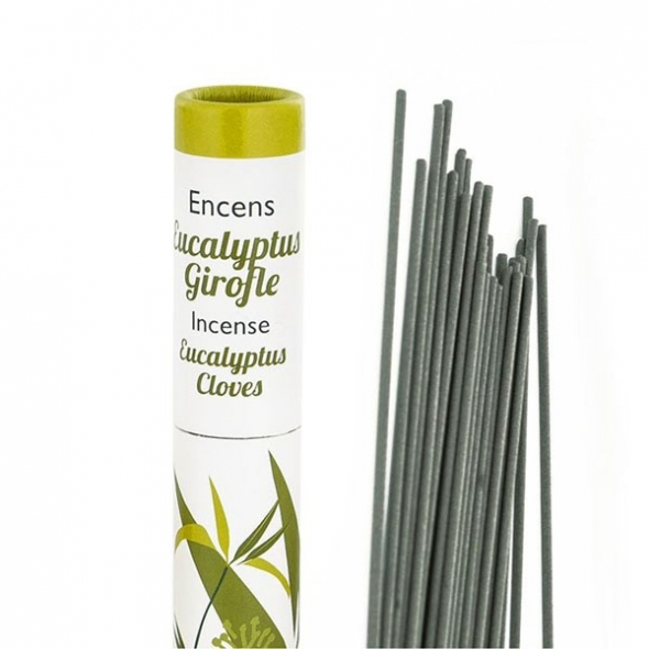 Encens végétal français - Eucalyptus & Girofle - 30 bâtonnets