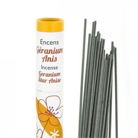Encens végétal Géranium-Anis - 30 bâtonnets