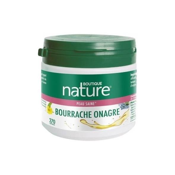 Bourrache + onagre - Elasticité de la peau - 270 capsules