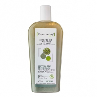 Shampooing bio cheveux gras Dermaclay
