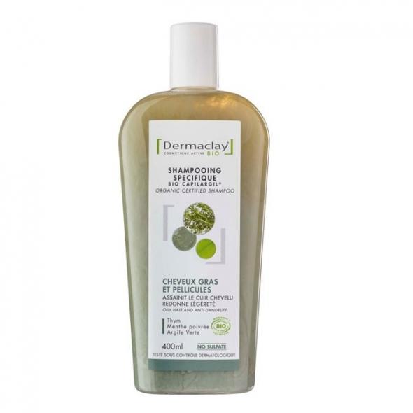 Shampooing bio cheveux gras Dermaclay