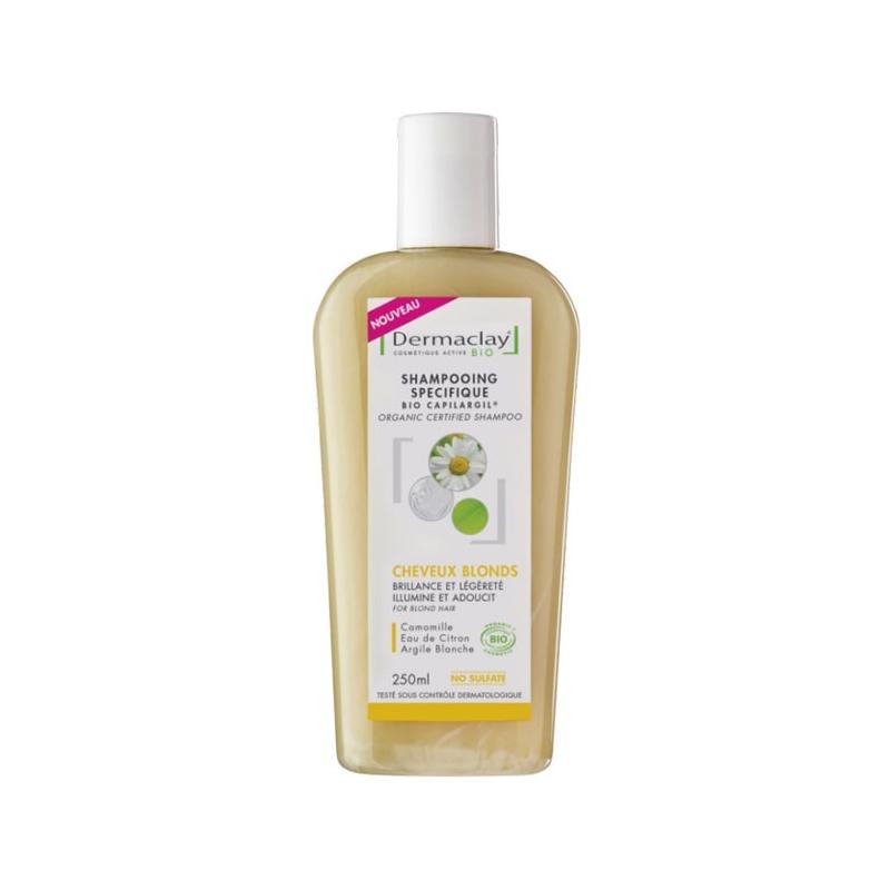 shampoing bio cheveux blonds dermaclay