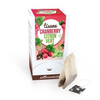 Tisane bio Cranberry citron vert – 18 sachets