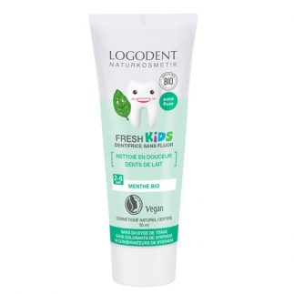 Dentifrice gel à la menthe douce enfant sands fluor - Logodent kids 50 ml