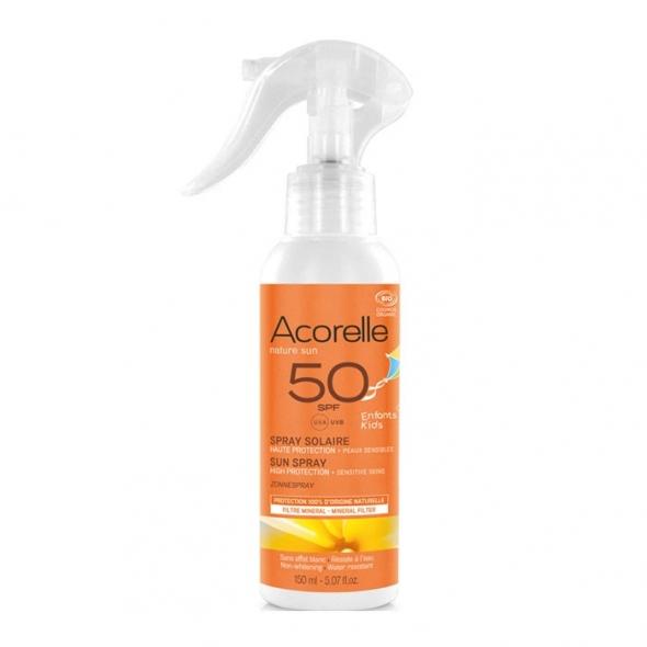 Spray solaire enfant bio SPF 50 Acorelle