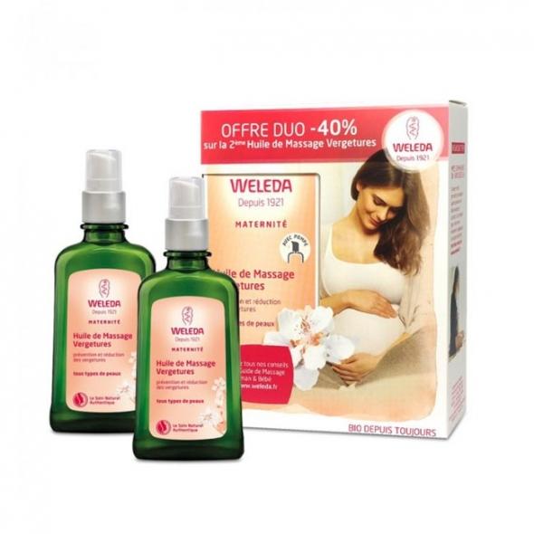 Huile de massage vergetures Weleda