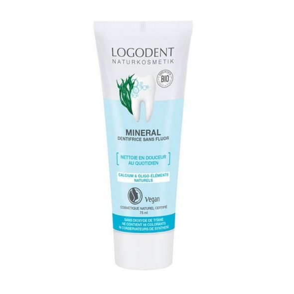 dentifrice minéral sans fluor Logona