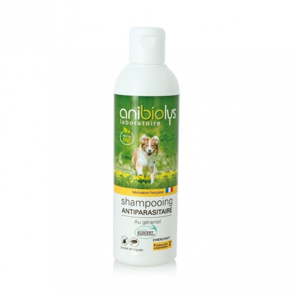 Shampoing antiparasitaire chien ou chiot Anibiolys