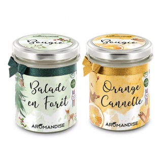 Bougie d'ambiance festives Aromandise