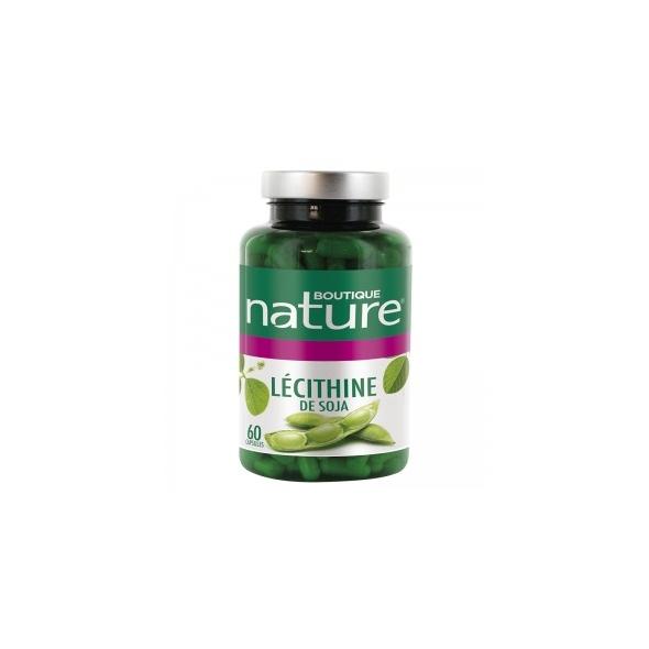 Lécithine de soja - Cholestérol - 60 Capsules