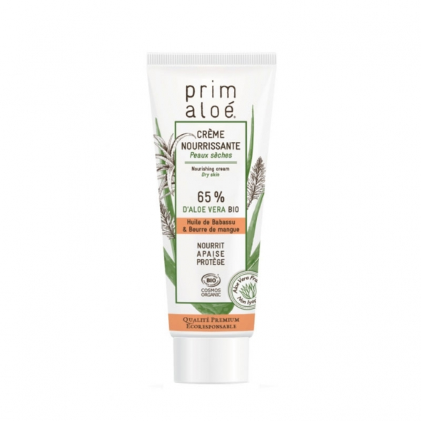 Crème visage bio nourrissante Prim'Aloé