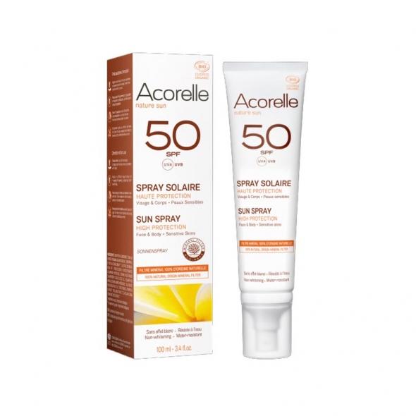 Spray solaire SPF50 Acorelle