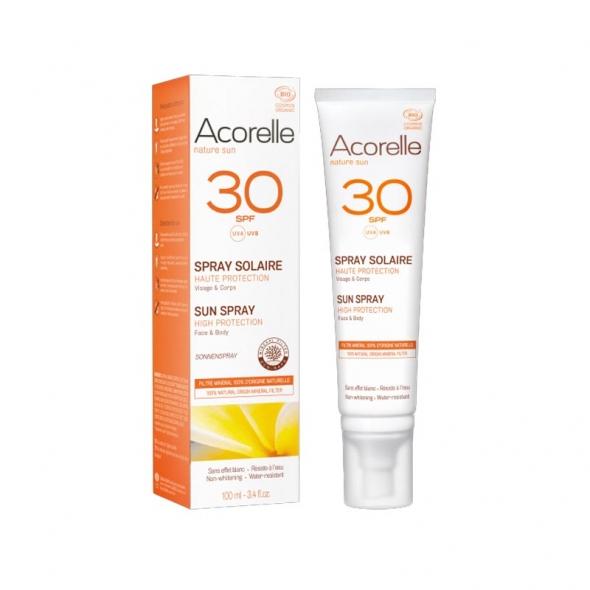 Spray solaire SPF30 bio Acorelle
