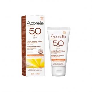 Crème solaire Visage bio SPF 50 Acorelle