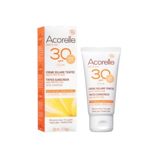 Crème solaire teintée Acorelle