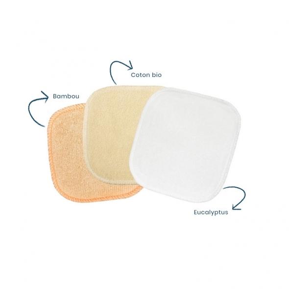 Kit Eco belle trousse Coton démaquillants lavables