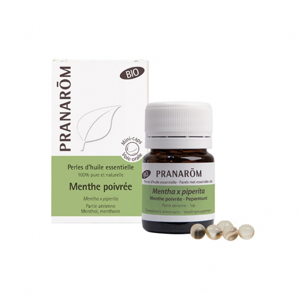 Perles menthe poivrée bio Pranarôm