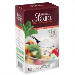Poudre éduclcorante aux Extrait de Stévia - 50g