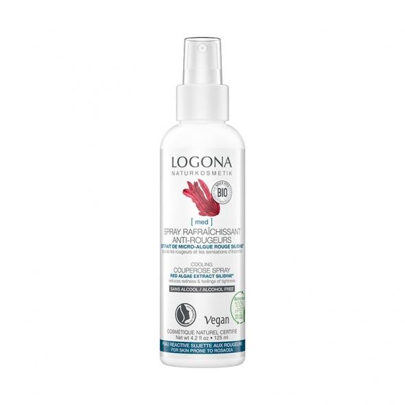 Spray rafraîchissant visage anti-rougeurs Logona