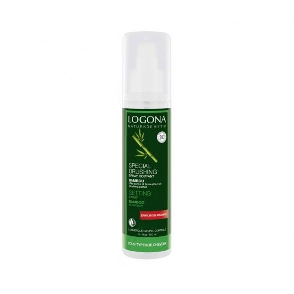 Spray coiffant spécial brushing au bambou tous types cheveux Logona
