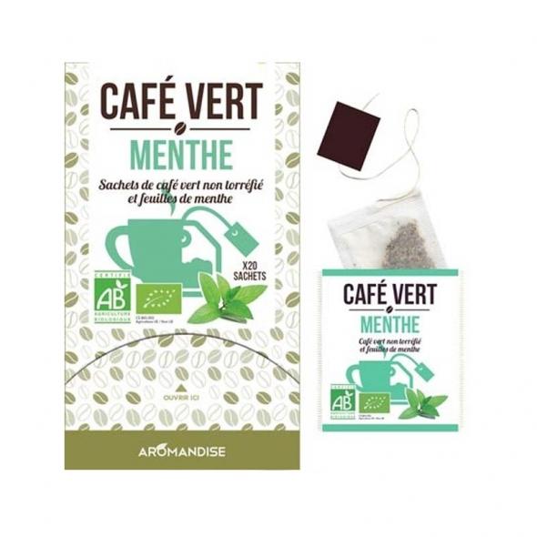 Café vert menthe aromandise