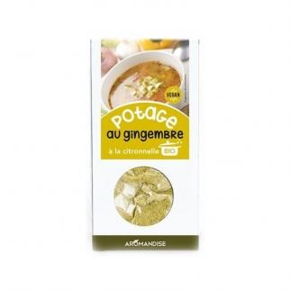 Potage au Gingembre Citronnelle bio hildegarde de Bingen Aromandise