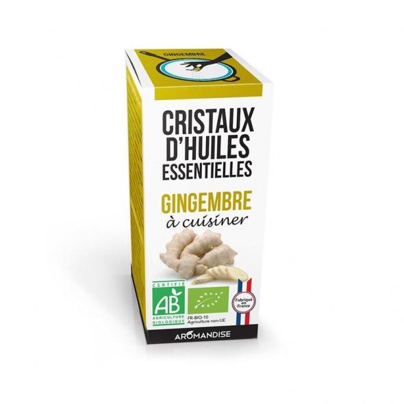 Cristaux d'huiles essentielles - Gingembre - 10g - Aromandise